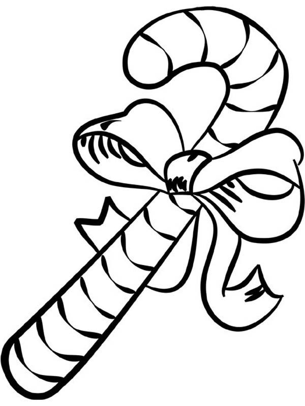 Big Candy Cane Coloring Page - Download & Print Online Coloring ...
