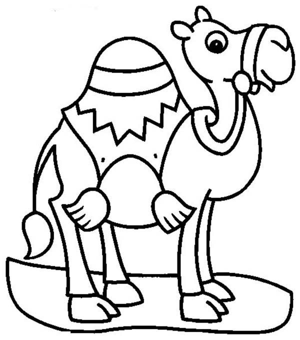 Camel For Transportation Coloring Page