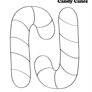 candy cane for joy christmas coloring page - Candy Canes To Color