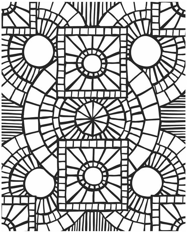church window mosaic coloring page - Mosaic Coloring Pages