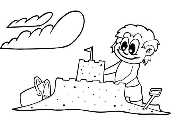 Creative Sand Castle Coloring Page - Download & Print Online ...