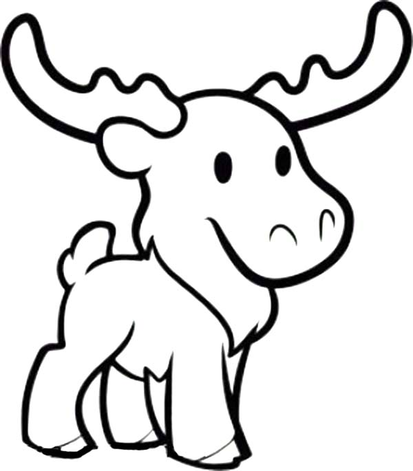 Cute Moose Coloring Page Download Print Online Coloring Pages Coloring Page