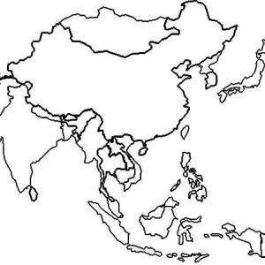 East Asia In World Map Coloring Page