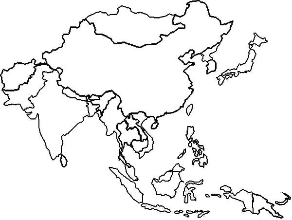 East Asia in World Map Coloring Page - Download & Print Online ...