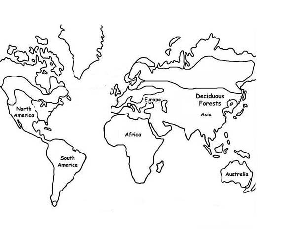 Exploring Nature Educational With World Map Coloring Page