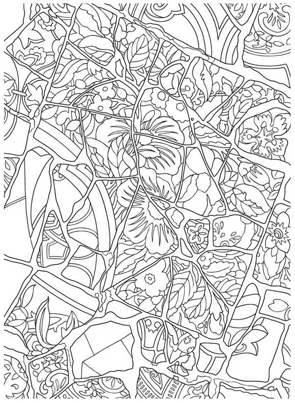 Floral Mosaic Coloring Page - Download & Print Online ...