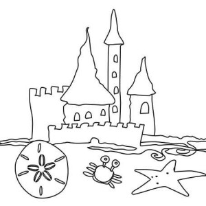 Great Sand Castle Coloring Page