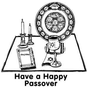 Have a Happy Passover Day Coloring Page