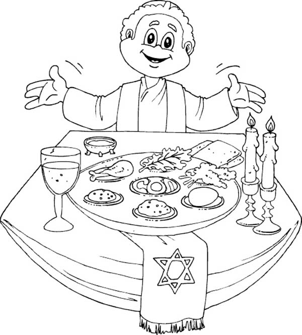 printable passover dinner coloring pages - photo#10