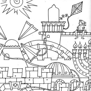 jerusalem in purim day coloring page