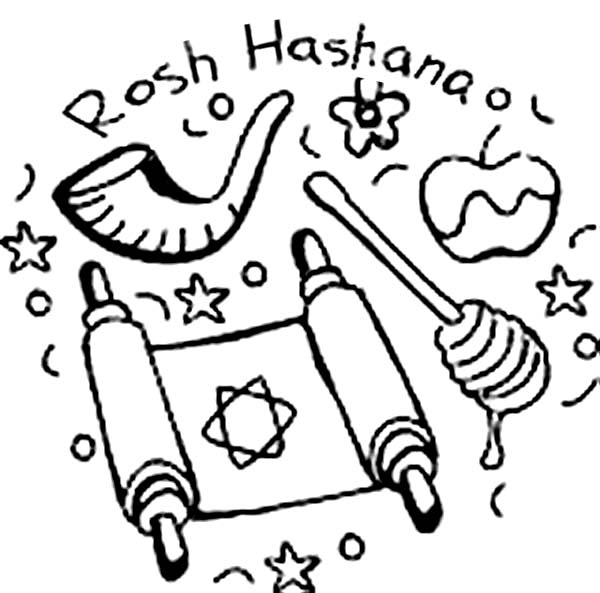 Jewish Holiday Rosh Hashanah Coloring Page Download Print Online