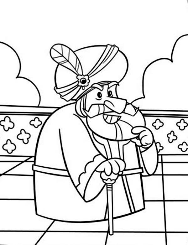 king of persia ahasuerus in purim coloring page - Purim Coloring Pages