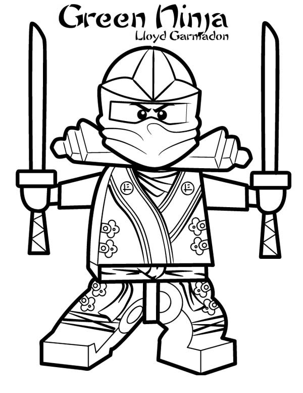 Lloyd garmadon ninjago green ninja coloring page for Ninjago green ninja coloring pages