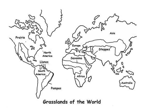 Map grasslands outline in world map coloring page download map grasslands outline in world map coloring page gumiabroncs Images