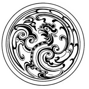 Medallion Mandala Hen Mosaic Coloring Page