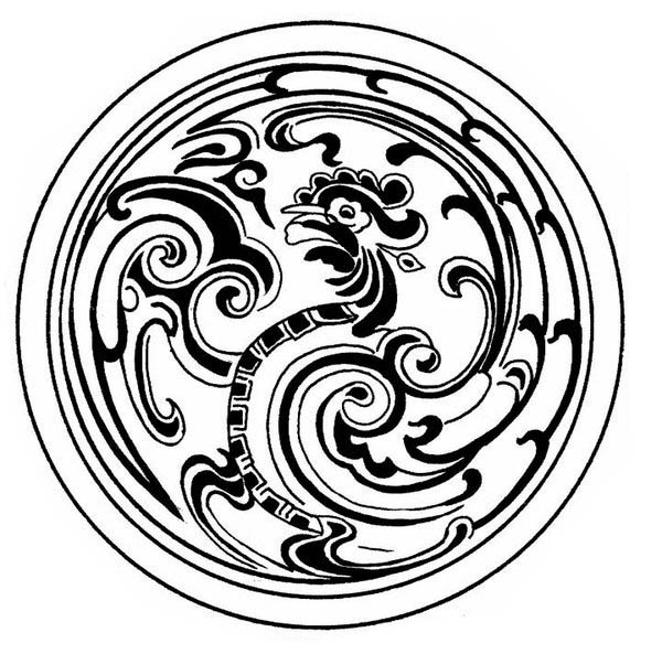 mosaic medallion mandala hen mosaic coloring page medallion mandala hen mosaic coloring pagefull size