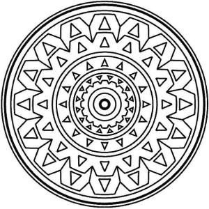 medallion mandala mosaic coloring page