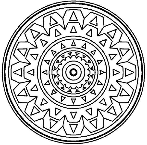 Mosaic Coloring Pages To Print Medallion Mandala Mosaic Coloring Page  Download & Print Online .
