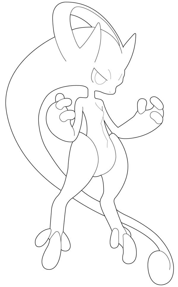 Mega Mewtwo Y Coloring Page Download Print Online Coloring