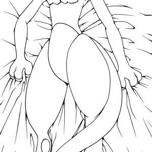 Mewtwo Outline Coloring Page Mewtwo Outline Coloring Page
