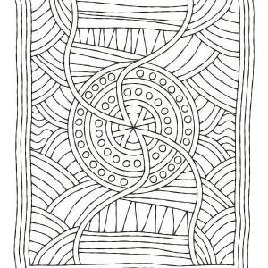 mosaic matress coloring page