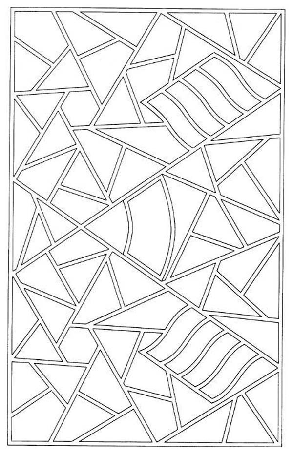 Mosaic Patter Coloring Page: Mosaic Patter Coloring Page – Color Nimbus