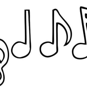 Music Notes Drawing Coloring Page
