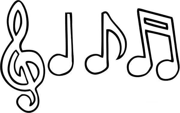 Music Notes Drawing Coloring Page Music Notes Drawing