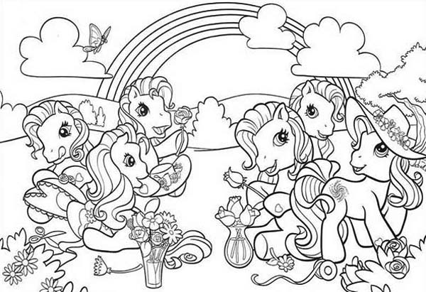 My Little Pony Doing Flower Arrangement Coloring Page My Little