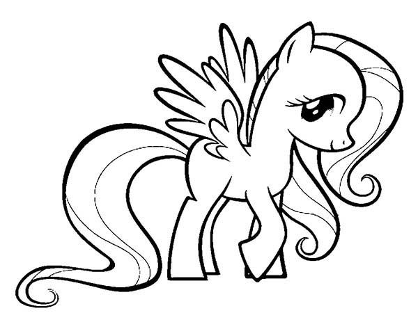 My Little Pony Fluttershy Coloring Page Download Print Online
