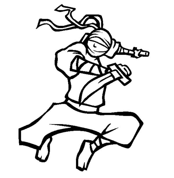 ninja ninja using short katana coloring page ninja using short katana coloring pagefull size
