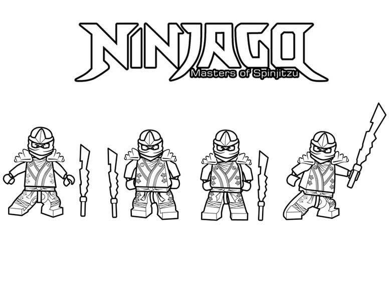Ninjago is Ninja Master of Spinjitzu Coloring Page: Ninjago is Ninja ...