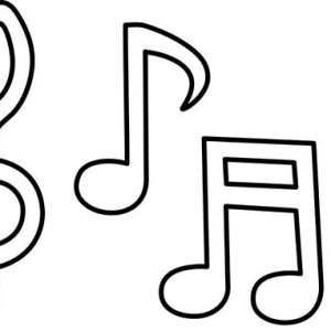 picture of music notes coloring page