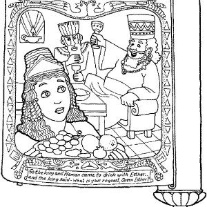 picture of purim in scroll coloring page - Purim Coloring Pages