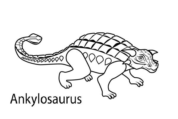 Picture of an ankylosaurus coloring page