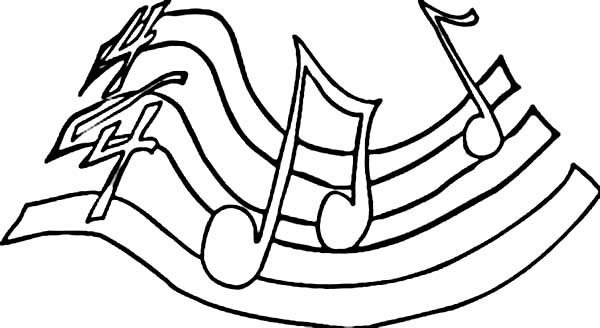 Play Your Song with Music Notes Coloring Page Download Print