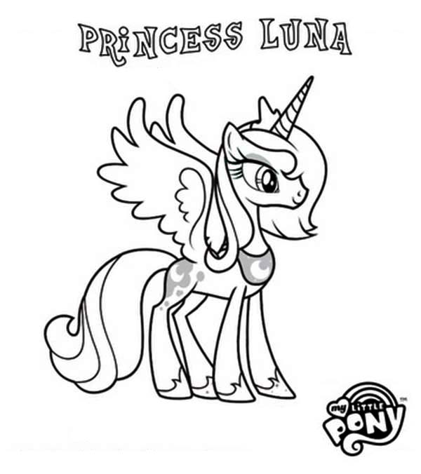 Coloring Pages My Little Pony Princess Luna : Pony princess luna in my little coloring page