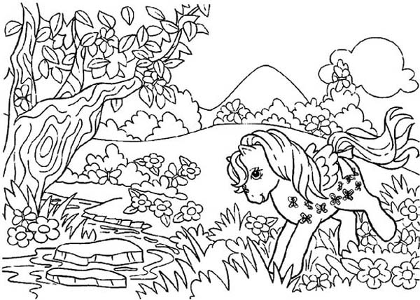 Forest Coloring Sheet