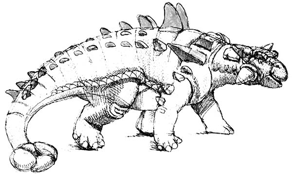 Realistic Picture of an Ankylosaurus