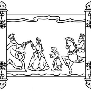 scroll of purim holiday coloring page
