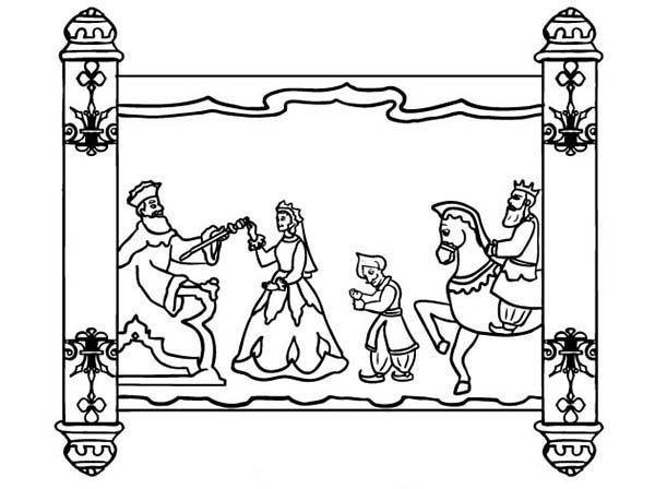 purim scroll of purim holiday coloring page