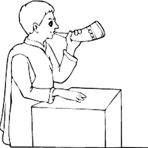 Sound of Shofar in Rosh Hashanah Coloring Page