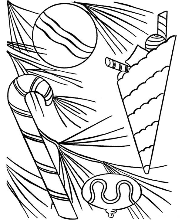 Sweet Candy Cane Coloring Page Download Print Online Coloring