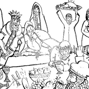 The Joyous and Fun of Purim Holiday Coloring Page