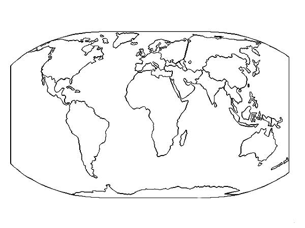 The Very Best World Map Coloring Page Download Print Online