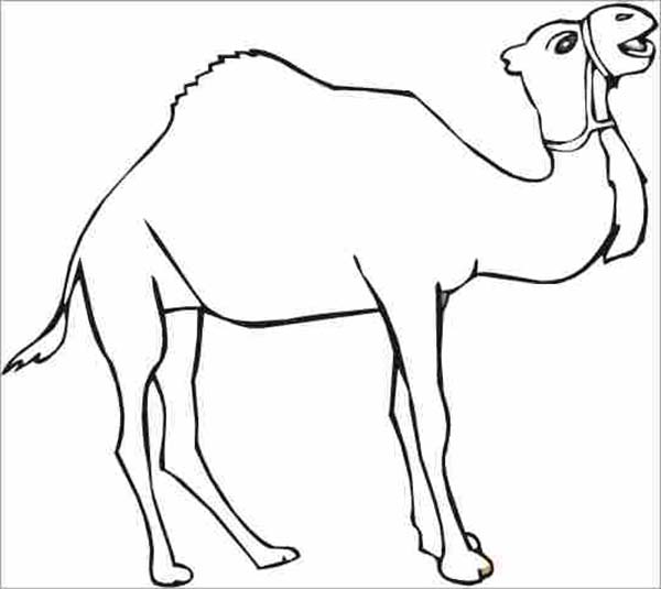 Thirsty Camel Coloring Page