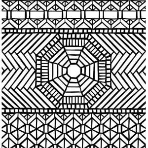 traditional pattern mandala mosaic coloring page - Mosaic Coloring Pages