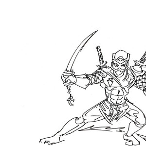 Silhouette of Ninja Coloring Page: Silhouette of Ninja Coloring Page ...