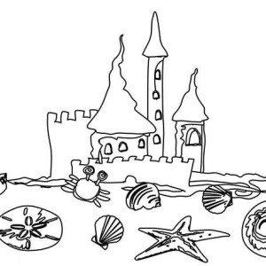 Various Type of Clamshell for Sand Castle Coloring Page