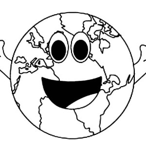 A Cheerful Mr Earth Day Coloring Page